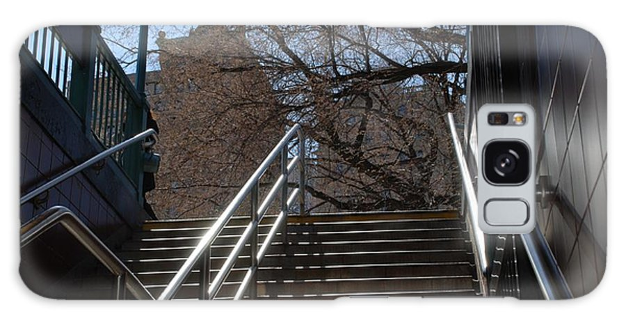 Street Scene Galaxy S8 Case featuring the photograph Subway Stairs by Rob Hans