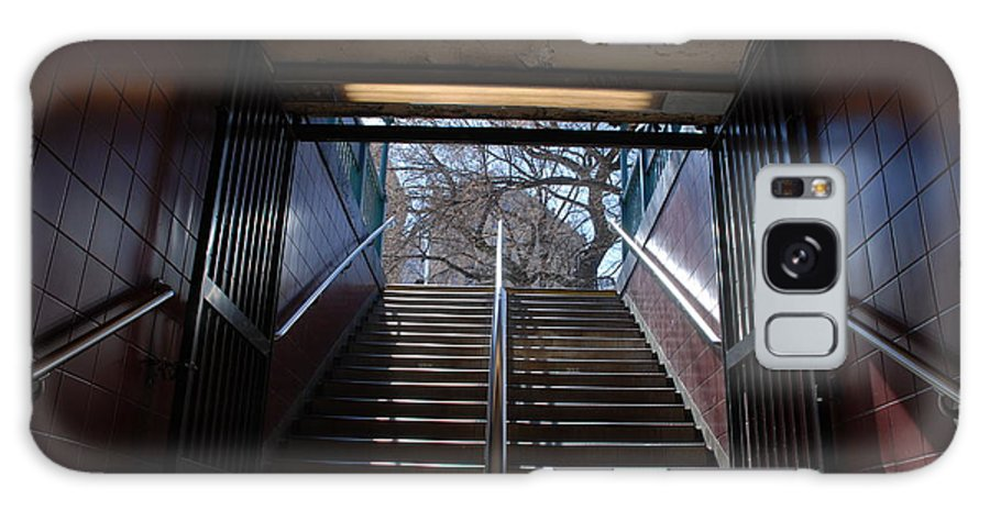 Pop Art Galaxy Case featuring the photograph Subway Stairs To Freedom by Rob Hans