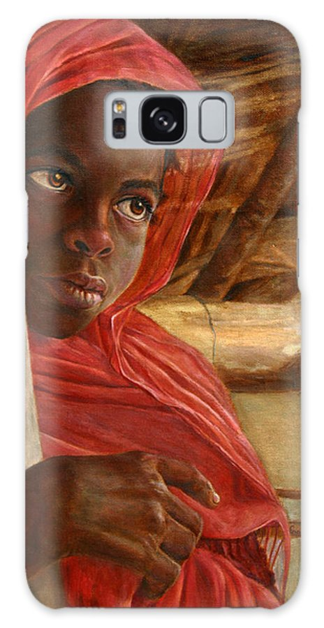 Children Painting Galaxy S8 Case featuring the painting Sudanese Girl by Portraits By NC