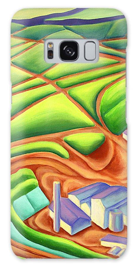 Hawaiian Landscape Galaxy S8 Case featuring the painting Sugar Mill by Lynn Soehner