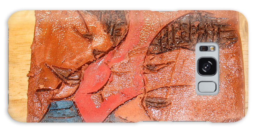 Jesus Galaxy S8 Case featuring the ceramic art Sulk - Tile by Gloria Ssali