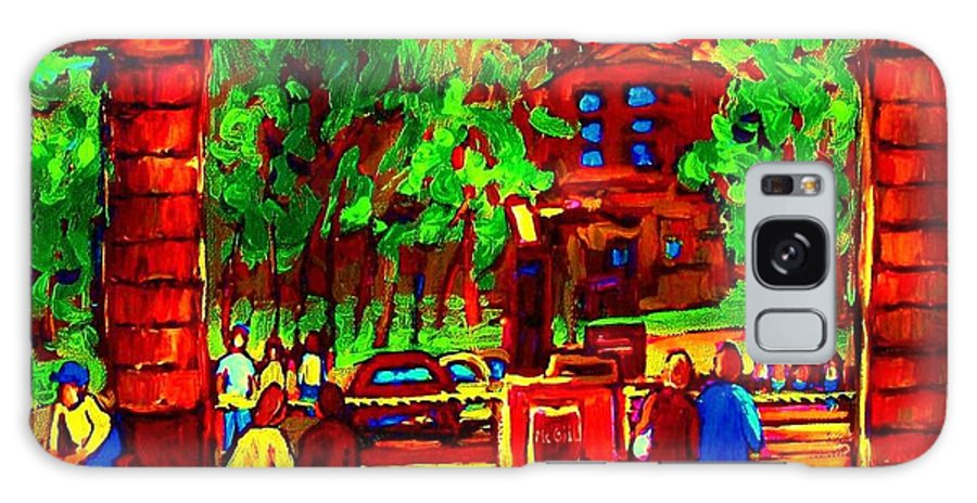 Mcgill University Galaxy S8 Case featuring the painting Summer At Mcgill University by Carole Spandau