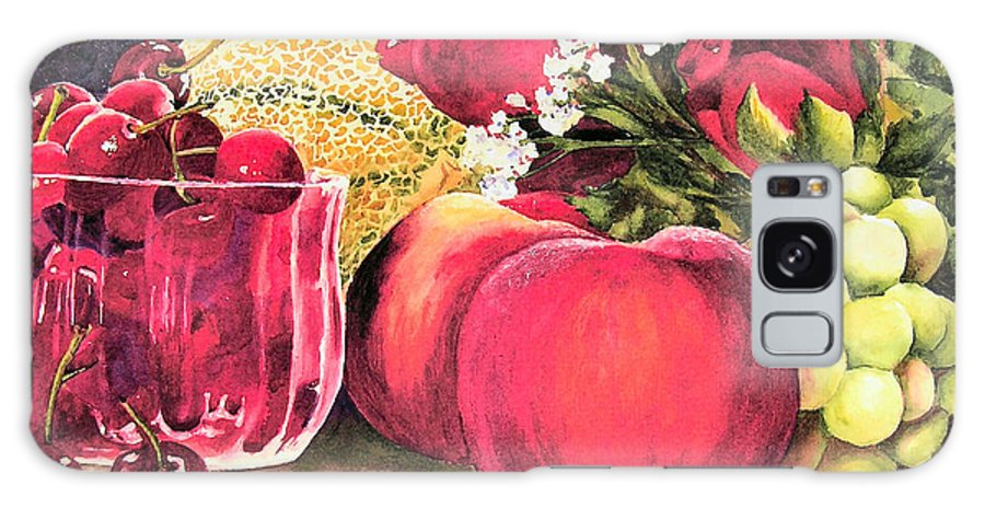 Cherries Galaxy S8 Case featuring the painting Summer Bounty by Karen Stark