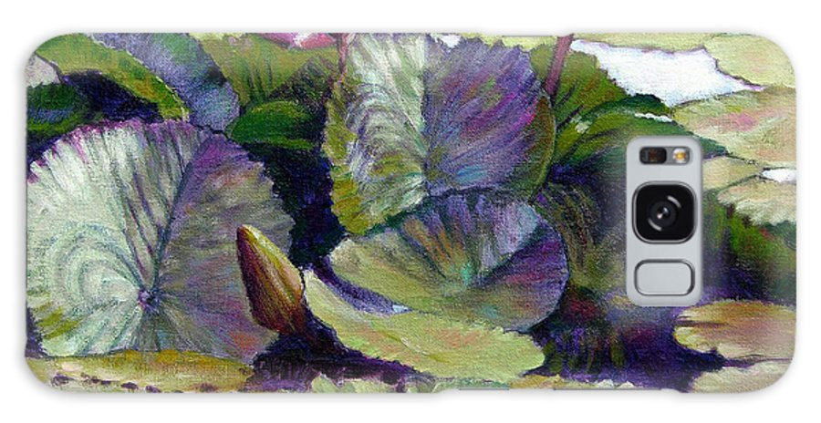 Water Lilies Galaxy S8 Case featuring the painting Summer Breeze by John Lautermilch