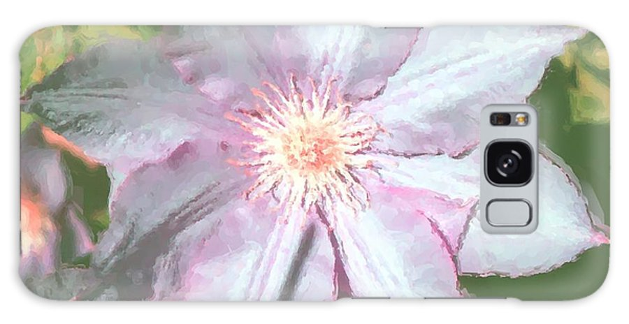 Clematis Galaxy S8 Case featuring the digital art Summer Clematis by Janet Pugh