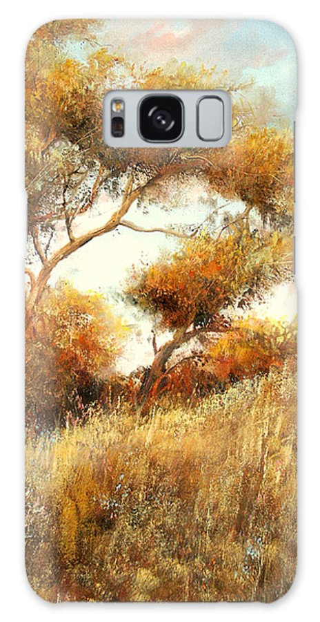 Summer Galaxy Case featuring the painting Summer Fields by Sally Seago