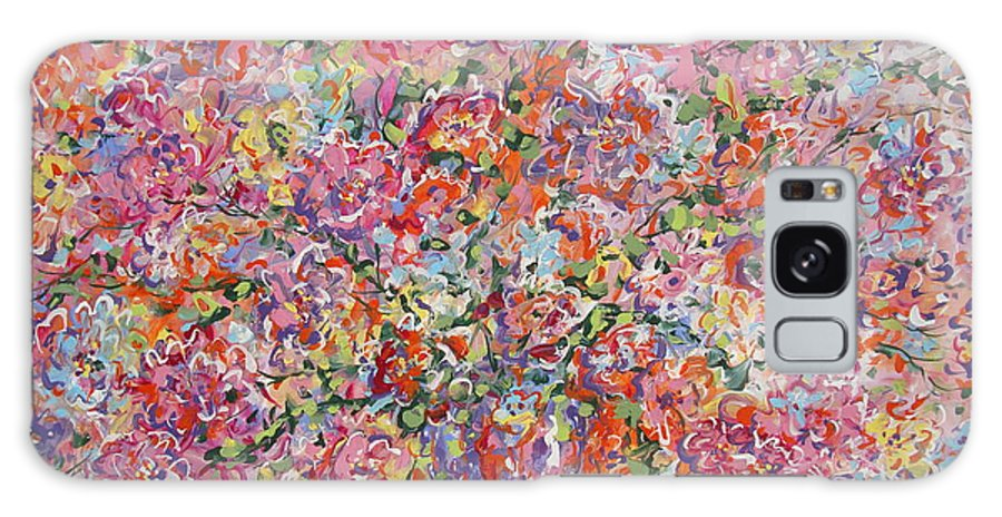 Painting Galaxy Case featuring the painting Summer Flowers by Leonard Holland