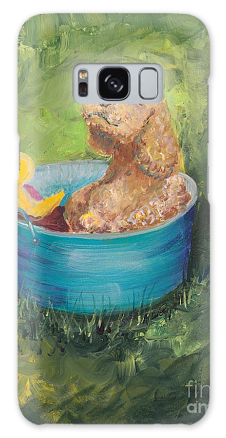 Dog Galaxy Case featuring the painting Summer Fun by Nadine Rippelmeyer