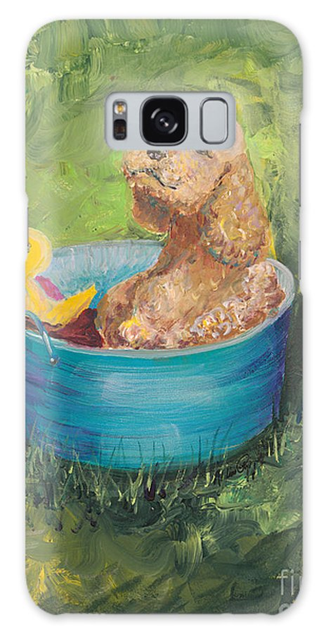 Dog Galaxy S8 Case featuring the painting Summer Fun by Nadine Rippelmeyer