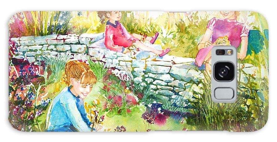 Garden Galaxy Case featuring the painting Summer Garden by Laura Rispoli