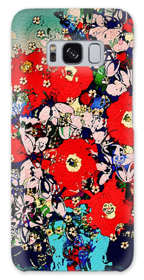 Flowers Galaxy S8 Case featuring the mixed media Summer Glory by Natalie Holland