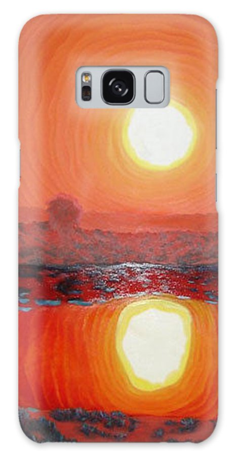 Sun Galaxy S8 Case featuring the painting Summer Heat by Blaine Filthaut