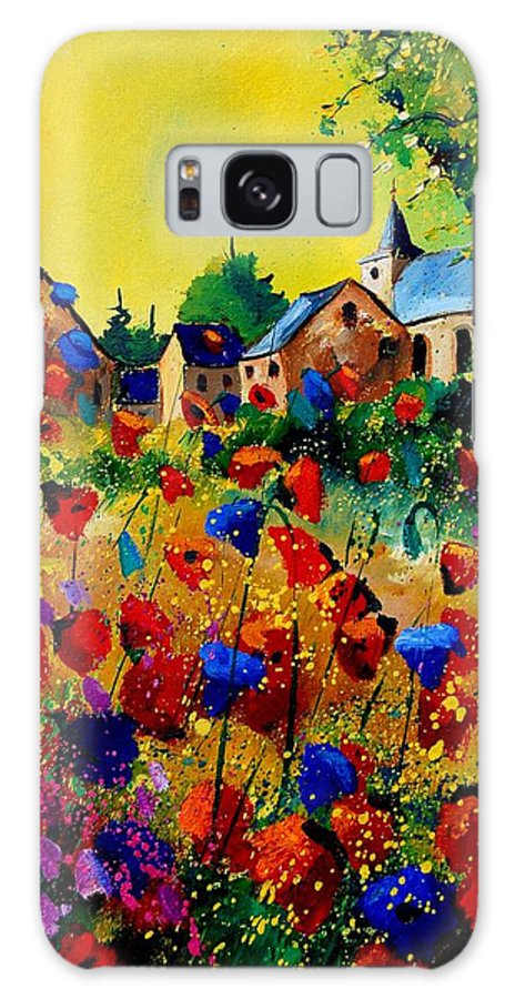 Poppy Galaxy S8 Case featuring the painting Summer In Sosoye by Pol Ledent
