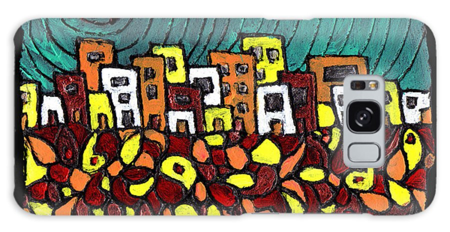 City Galaxy S8 Case featuring the painting Summer In The City by Wayne Potrafka