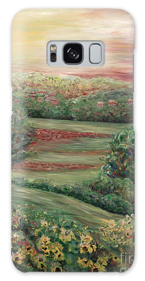 Landscape Galaxy S8 Case featuring the painting Summer In Tuscany by Nadine Rippelmeyer