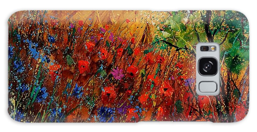 Flowers Galaxy S8 Case featuring the painting Summer Landscape With Poppies by Pol Ledent