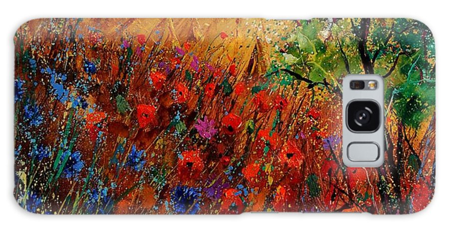 Flowers Galaxy Case featuring the painting Summer landscape with poppies by Pol Ledent