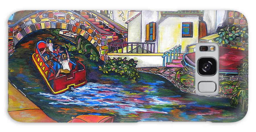 San Antonio Galaxy S8 Case featuring the painting Summer On The River by Patti Schermerhorn