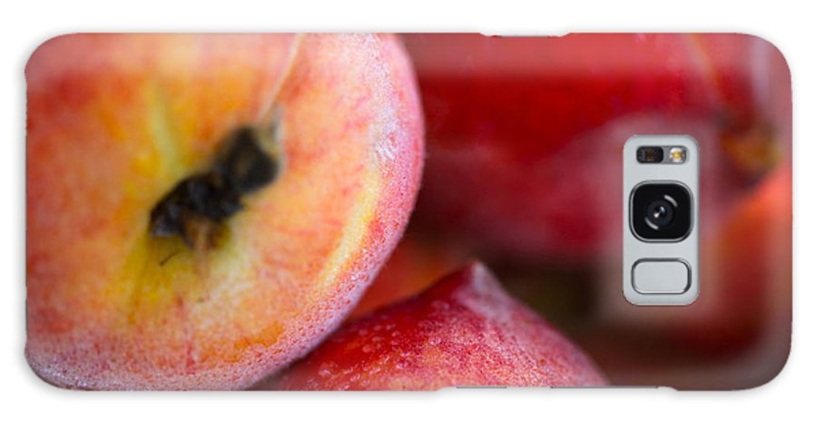 Peach Galaxy S8 Case featuring the photograph Summer Peaches by Nadine Rippelmeyer