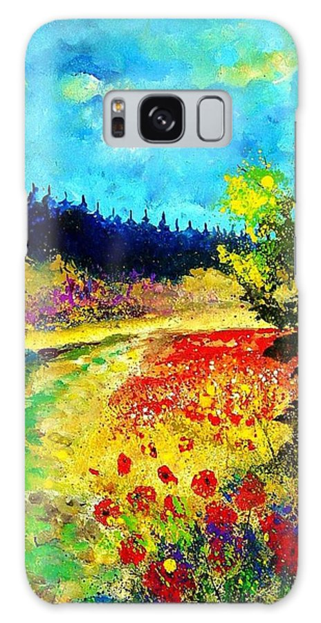 Flowers Galaxy S8 Case featuring the painting Summer by Pol Ledent