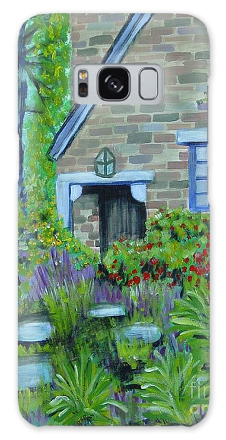 Cottage Galaxy Case featuring the painting Summer Retreat by Laurie Morgan