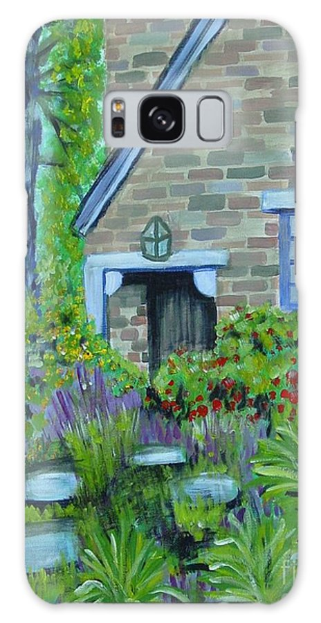 Cottage Galaxy S8 Case featuring the painting Summer Retreat by Laurie Morgan