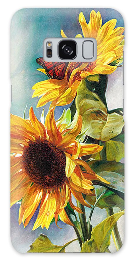 Sunflower Galaxy S8 Case featuring the painting Summer by Svitozar Nenyuk