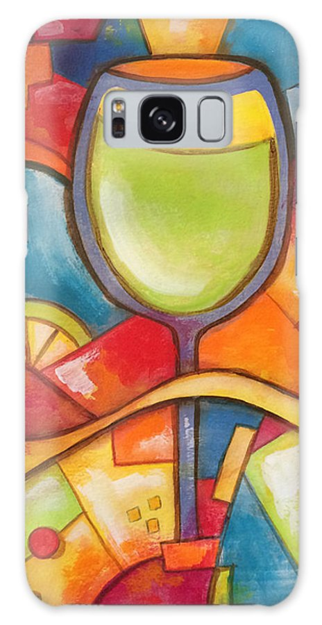 Cocktail Galaxy Case featuring the painting Summer Vino by Jill English