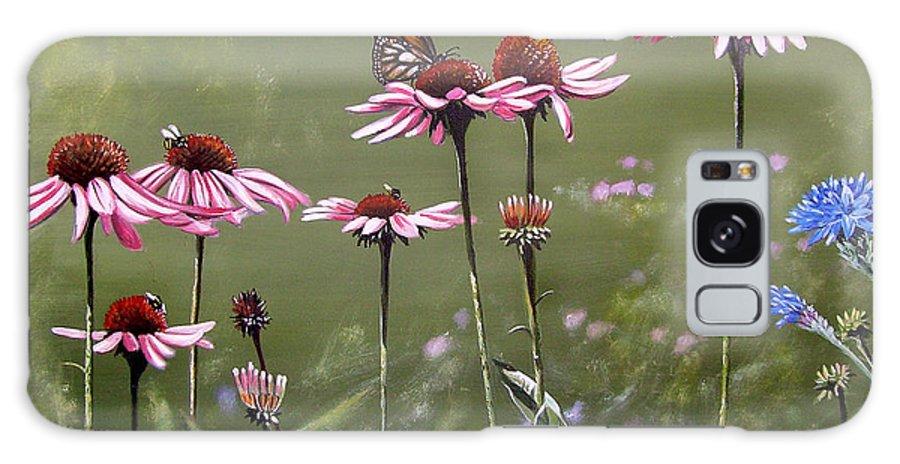 Summerlands Galaxy S8 Case featuring the painting Summerlands by Arie Van der Wijst