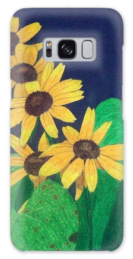 Black-eyed Susan Galaxy S8 Case featuring the drawing Summers End by Anita Putman