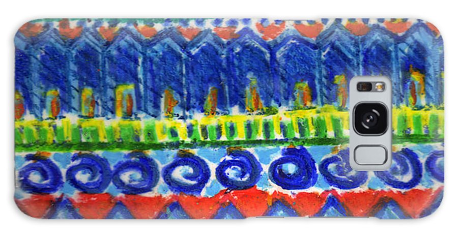 Monoprint Galaxy S8 Case featuring the mixed media Summertime by Diana Davenport