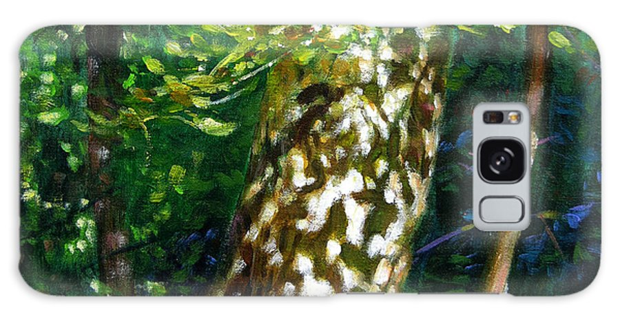 Tree Galaxy S8 Case featuring the painting Sun And Shadow Patterns by John Lautermilch