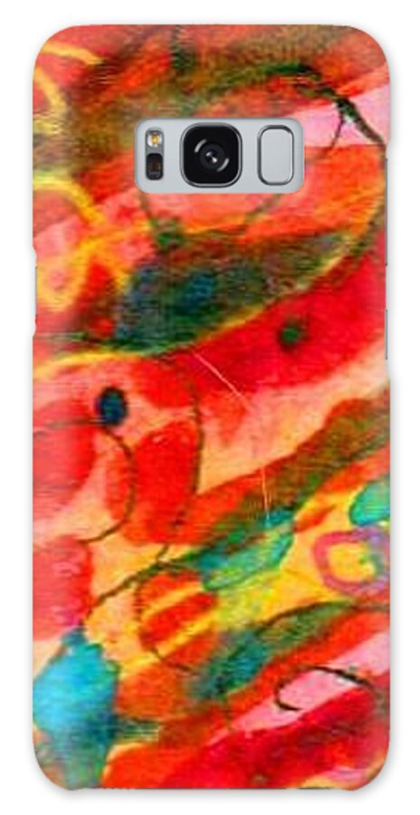 Original Galaxy S8 Case featuring the mixed media Leo Sun Carnelian by Katie-Ellen Hazeldine