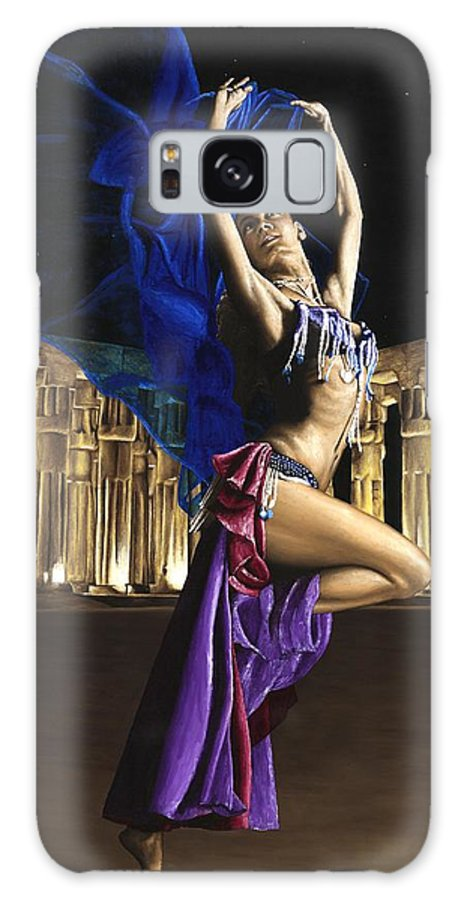 Belly Galaxy Case featuring the painting Sun Court Dancer by Richard Young