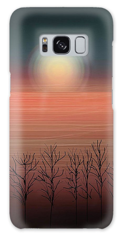 Sunset Galaxy S8 Case featuring the painting Sun Going To Bed by Anne Norskog