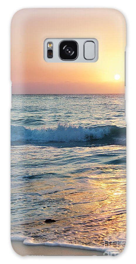 Grand Cayman Galaxy S8 Case featuring the photograph Sun Sets Over Seven Mile Beach by Jo Ann Snover