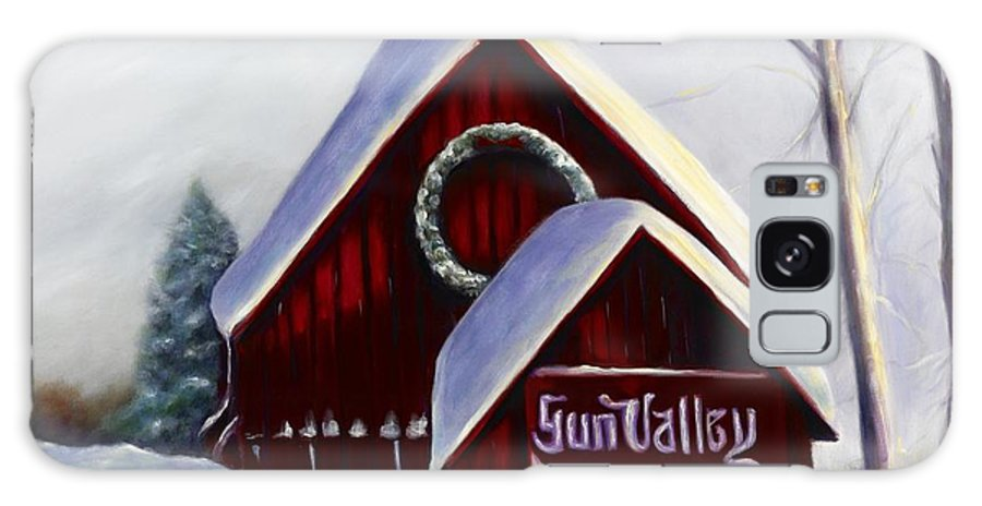 Landscape Galaxy Case featuring the painting Sun Valley 3 by Shannon Grissom