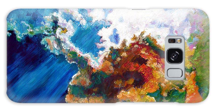 Sunburst Galaxy S8 Case featuring the painting Sunburst by John Lautermilch