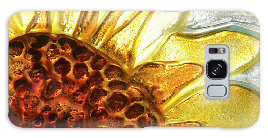 Sun Galaxy S8 Case featuring the photograph Sunburst Sunflower by Jerry McElroy