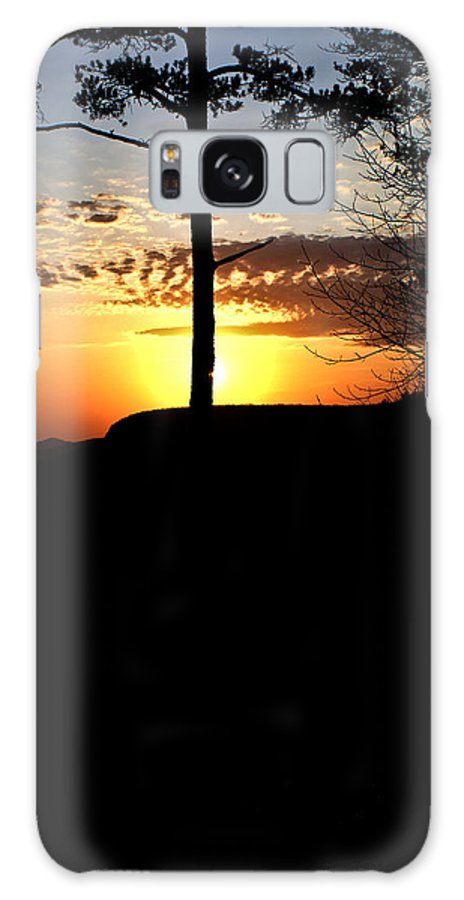 Sunburst Galaxy Case featuring the photograph Sunburst Sunset by Douglas Barnett