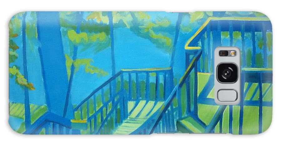 New Hampshire Galaxy Case featuring the painting Suncook Stairwell by Debra Bretton Robinson