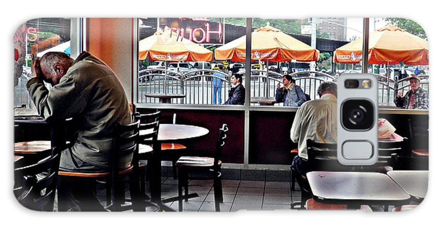 Chair Galaxy S8 Case featuring the photograph Sunday Afternoon At Dunkin Donuts by Sarah Loft