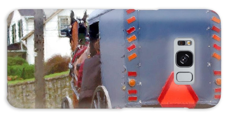 Amish Galaxy Case featuring the photograph Sunday Courting by Debbi Granruth