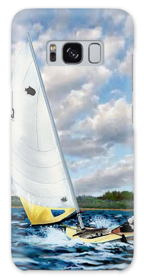 Sailing Galaxy S8 Case featuring the painting Sunfish by Jann Paxton