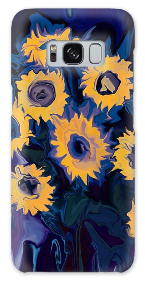 Art Galaxy S8 Case featuring the digital art Sunflower 1 by Rabi Khan