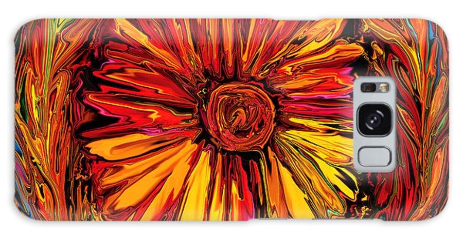 Art Galaxy Case featuring the digital art Sunflower Emblem by Rabi Khan