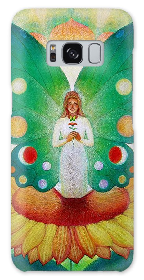Fairies Galaxy S8 Case featuring the painting Sunflower Fairy by Sue Halstenberg