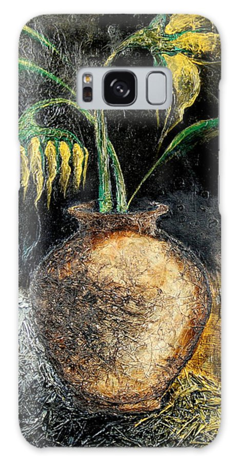 Sunflower Galaxy S8 Case featuring the painting Sunflower by Farzali Babekhan
