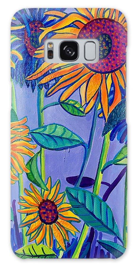 Sunflowers Galaxy Case featuring the painting Sunflower Garden by Debra Bretton Robinson