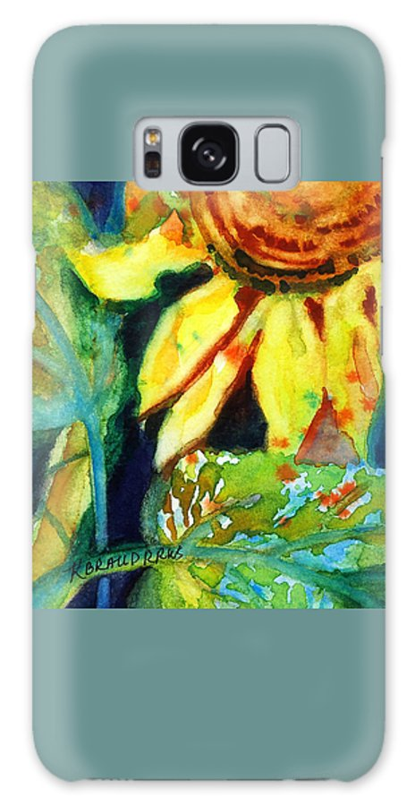 Painting Galaxy S8 Case featuring the painting Sunflower Head 4 by Kathy Braud